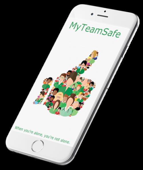 MyTeamSafe App phone logo