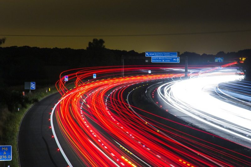 cars on road time lapse