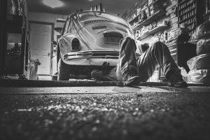 Working alone in a garage