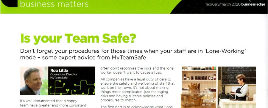 MyTeamSafe Business Edge Article Feb 2020